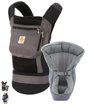 Ergobaby Charcoal Performance Bundle of Joy Carrier & Infant Insert