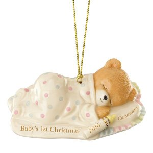 Baby's First Cuddles & Hugs Christmas Bear Ornament by Lenox