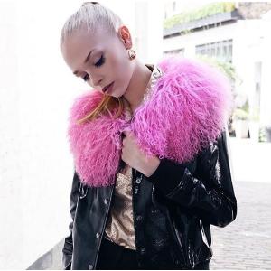 Charlotte Simone Women's Va-Va Varsity Jacket - Black/Pink - S/M - Free UK Delivery over £50