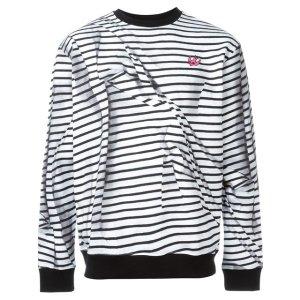 Mcq Alexander Mcqueen 'swallow' Striped Sweatshirt - Gisa - Farfetch.com