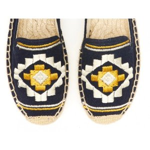 Soludos Bohemian Embroidered Platform Smoking Slipper in Sand - Soludos Espadrilles
