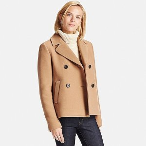 WOMEN WOOL BLEND PEA COAT | UNIQLO US
