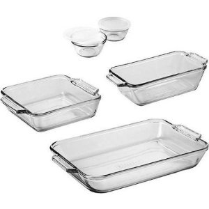 $9.97 Anchor Hocking 7-Piece Bakeware Set