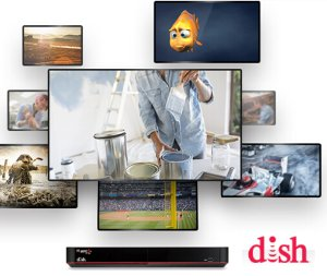 $5/off per month Base package + international add-on  @ Dish Network