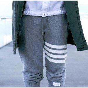 Thom Browne Bar Striped Sweatpants