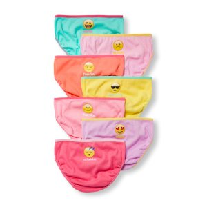 Girls Emoji Day-Of-The-Week Briefs 7-Pack | The Children's Place