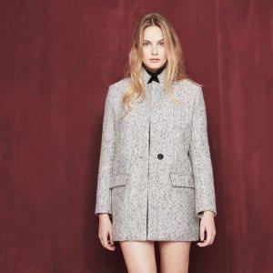 VLORIE Long jacquard jacket - Coats & Jackets - Maje.com