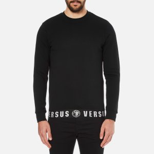 Versus Versace Men's Welt Detail Sweatshirt - Black - Free UK Delivery over £50