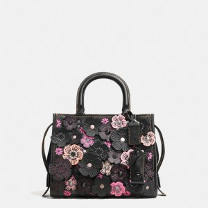 COACH: Rogue 25 With Tea Rose Applique