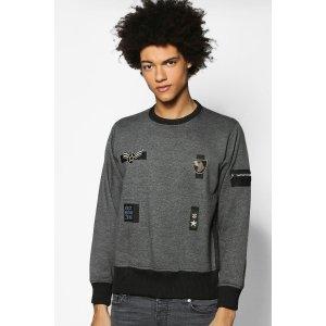 Badged MA1 Zip Sweater