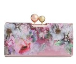 Ted Baker London 'Pure Peony' Leather Matinee Wallet (Nordstrom Exclusive)