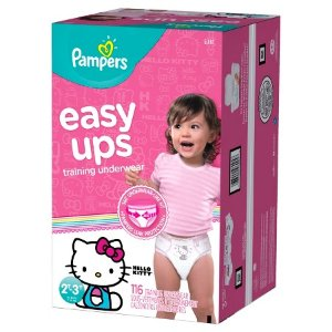 Pampers Easy Ups Girls Training Pants Giant Pack (Assorted Sizes) : Target