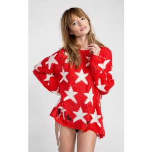 The Wildfox Seeing Stars Lenon Sweater
