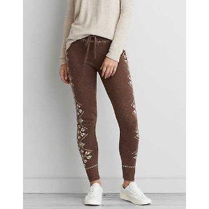 AEO Ahh-mazingly Soft Sweater Legging, Holiday Heather Brown | American Eagle Outfitters