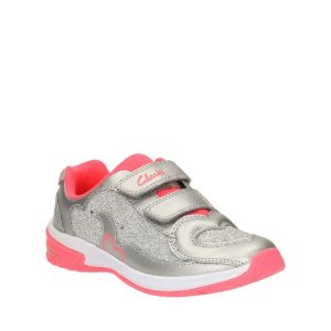 Piper Chat Toddler Silver Leather - Girls Shoes, Boots, and More - Clarks® Shoes Official Site