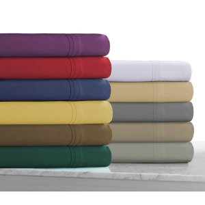 Super Soft Solid Extra Deep Pocket Easy-care Sheet Set with Oversize Flat - Free Shipping On Orders Over $45 - Overstock.com - 17345127