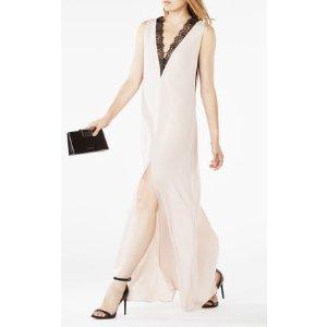 LLENA 蕾丝白色连衣长裙