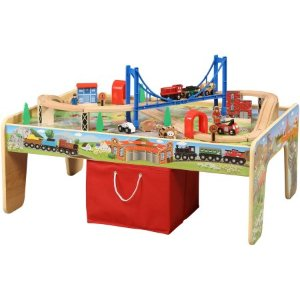 2016 Black Friday! $37 50-Piece Train Set with 2-in-1 Activity Table