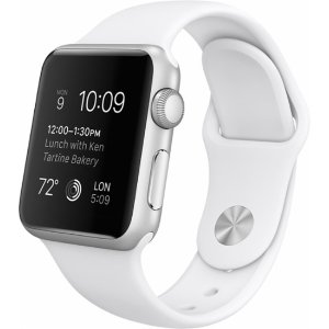 Apple Watch Sport (first-generation) 38mm Silver Aluminum Case - White Sports Band White MJ2T2LL/A