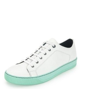 Lanvin Men's Leather Low-Top Sneaker @ Neiman Marcus