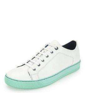 Lanvin Men's Leather Low-Top Sneaker @ Neiman Marcus
