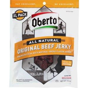 Oberto All Natural Original Beef Jerky, X-Large 10 Ounce Bag