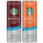 Starbucks Refreshers, 2 Flavor Variety Pack, 12 Ounce Slim Cans, 12 Pack