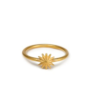 Accompish Magnificent Things Starburst Ring, Gold Dipped | Dogeared
