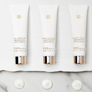 Only $39  (Value $69) Discover Natural Organic Olive Oil Brightening Hand Cream Set @ Eve by Eve's