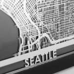 The Apollo Box 精选美国及世界城市钢制地图相框