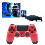 PS4 Slim 500 GB Uncharted 4 bundle + Dualshock 4 controller (Magma Red)
