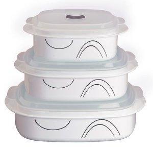 Corelle® Coordinates® Simple Lines 6-pc Microwave Set - Corelle
