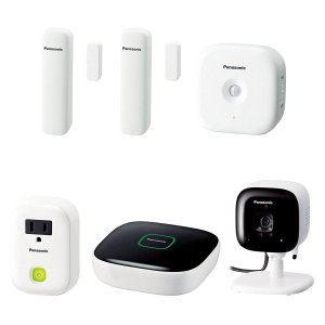 Panasonic Smart Home Monitoring Baby Monitoring Kit, White + 3 Free Handsets