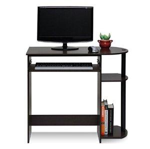 史低!$26(原价$42.08)Furinno Simplistic 简约实用电脑桌*深棕色