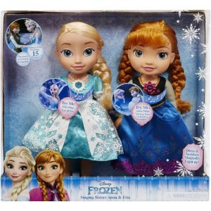 2016 Black Friday! $35 Disney Frozen Singing Sisters Elsa and Anna Dolls