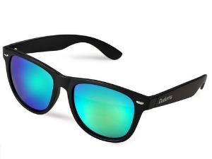 Duduma® Reflective Revo Color Full Mirrored Lens Large Horn Rimmed Style Uv400 Wayfarer Sunglasses