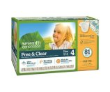 Seventh Generation Free & Clear Diapers, Super Pack