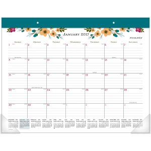 AT-A-GLANCE® 2017 Paper Posie Monthly Desk Pad (D145-704_17) - AT-A-GLANCE