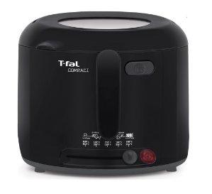 T-fal, FF122851, 1.6 L. Compact Deep Fryer, Plastic, Black