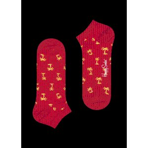 Playful Red Low Socks: Palm Beach style