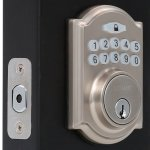 Single Cylinder Satin Nickel Castle Electronic Keypad Deadbolt