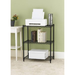 Work Choice 3-Tier Shelving, Black