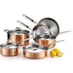 Lagostina Martellata Tri-Ply Hammered Copper 10-Piece Set