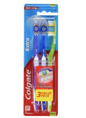 $1.99 Colgate Extra Clean Toothbrush, Medium, 3 Count