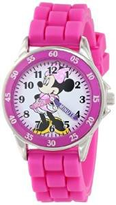 $9.99 Disney Kids' MN1157 Minnie Mouse Pink Watch with Rubber Band