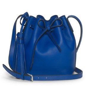 Ralph Lauren Mini Leather Bucket Bag