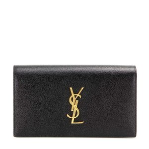 Saint Laurent - Classic Monogram leather clutch | mytheresa.com