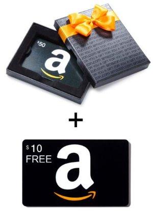 送$10Amazon 购买礼卡1月满$50送$10活动