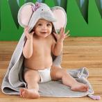 $18.42 Baby Aspen Splish Splash Elephant Bath Hooded Spa Towel, Gray