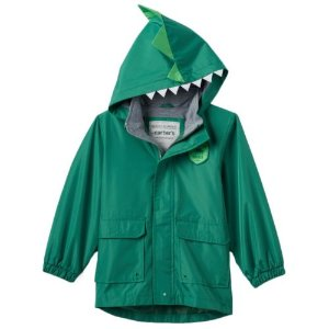 Baby Boy Carter's Dinosaur High-Low Hooded Jacket
